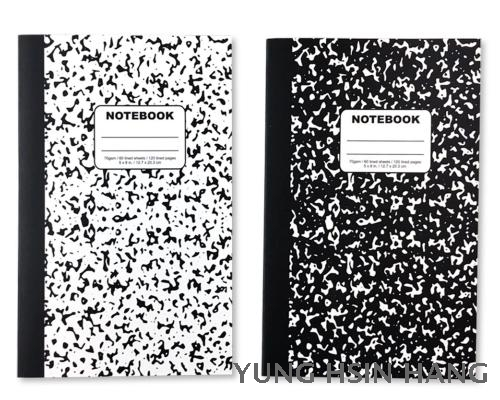 81-16N Marble Glue Bound Notebook