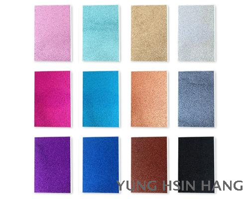 66-32NS Glitter Glue Bound Notebook (Set of 3)